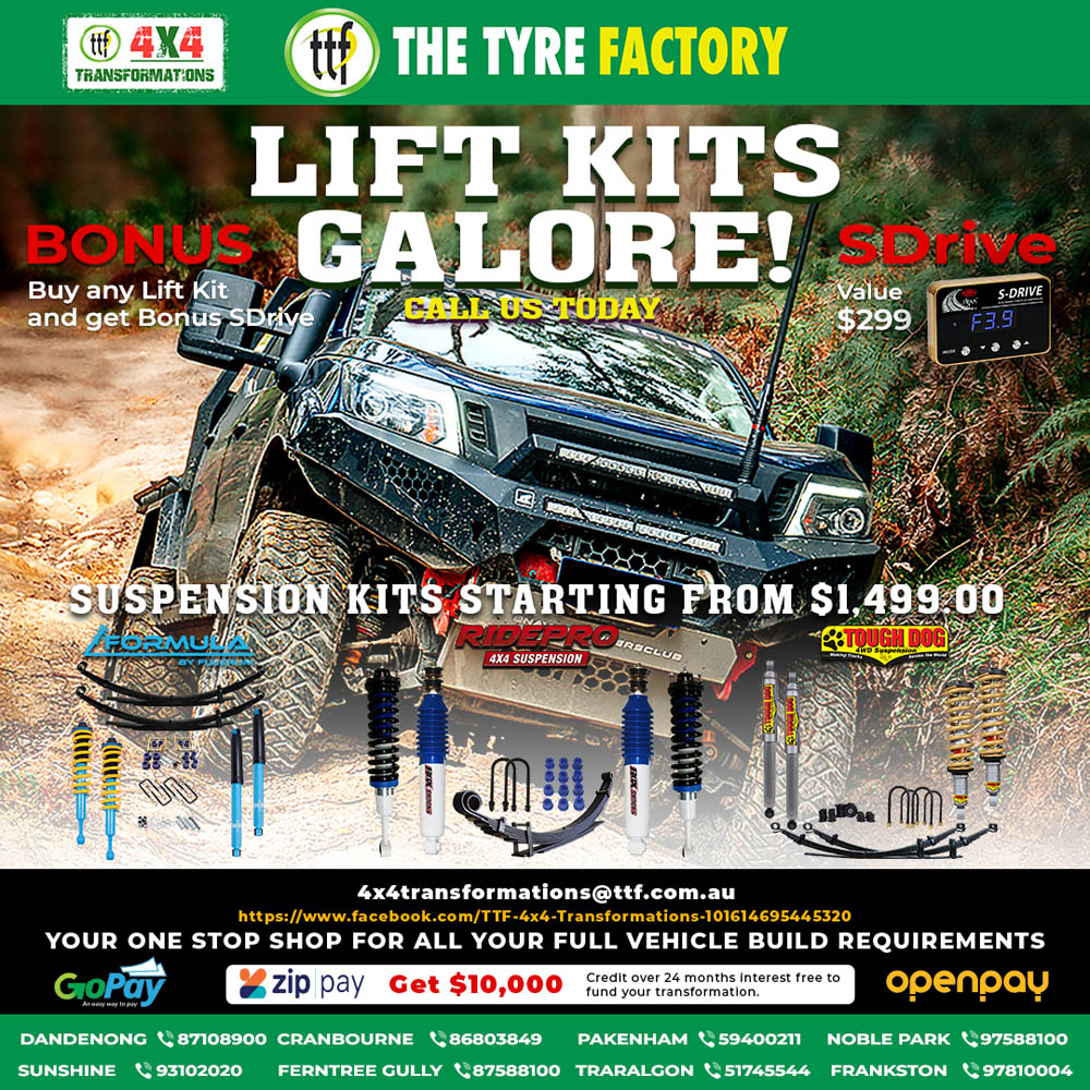Lift Kits Galore! Suspension kits starting from $1499