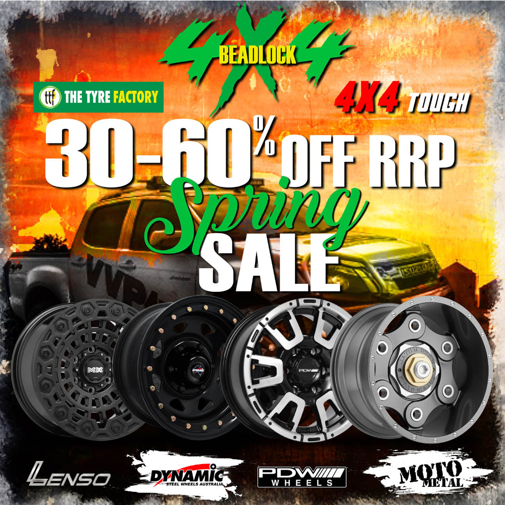 30-60% off rrp spring sale on selected wheels