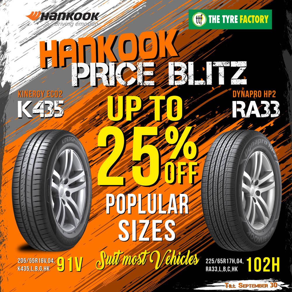 Hankook Price Blitz up to 25% off