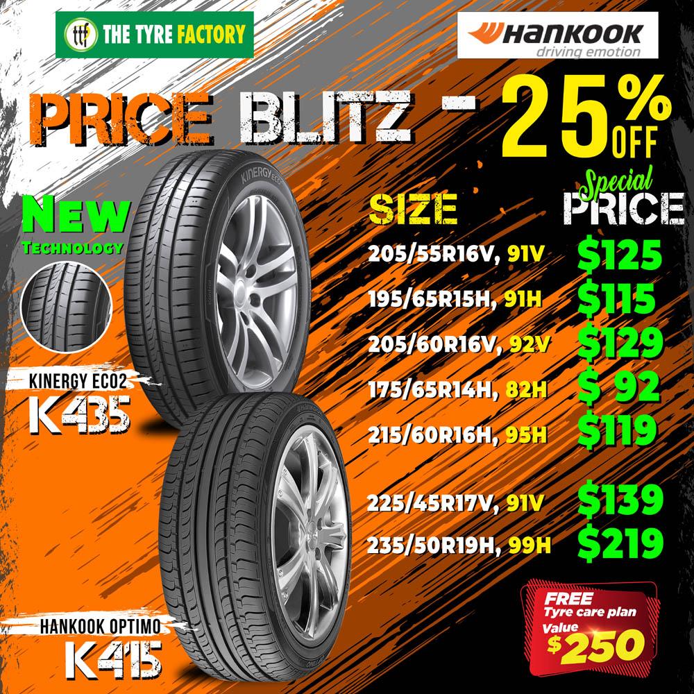Hankook Price Blitz - 25%