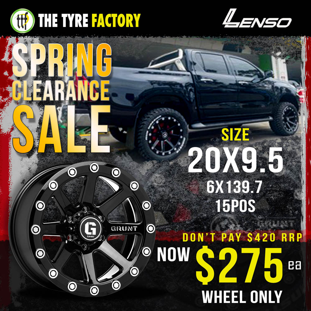 Spring Clearance Sale on specific Lenso wheel