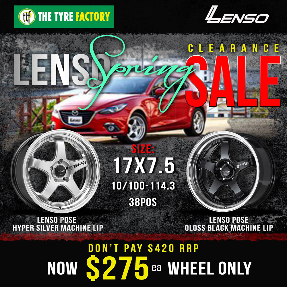 Lenso spring clearance sale on selected wheels