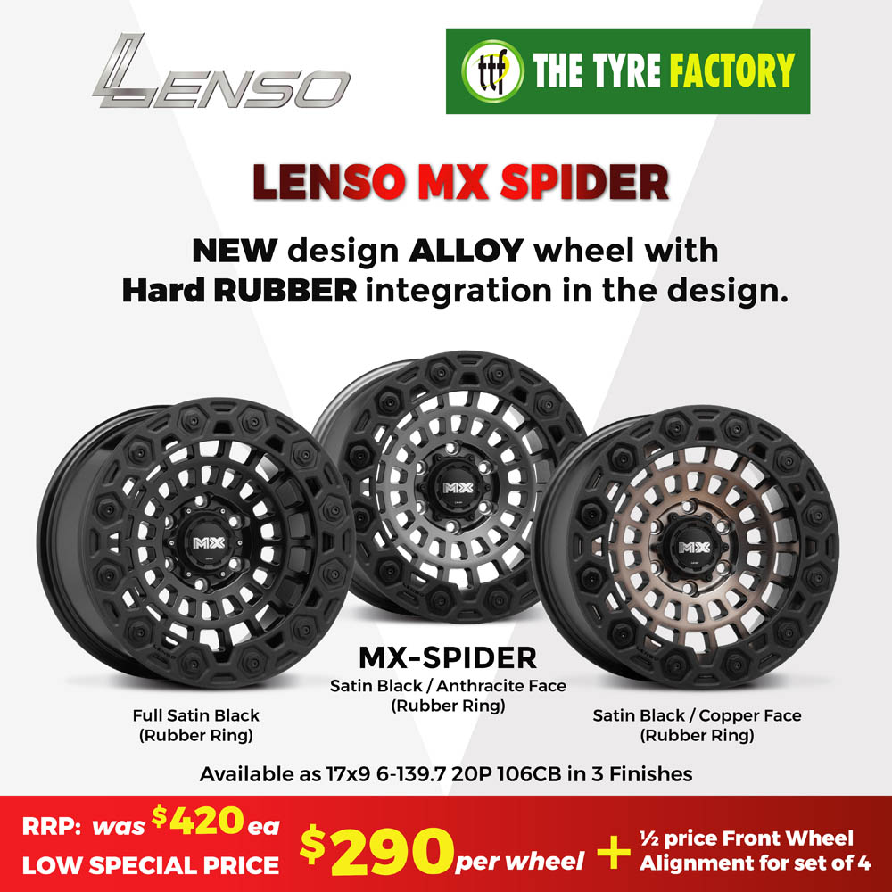 Lenso MX Spider - new design alloy wheel with hard rubber integration in the design