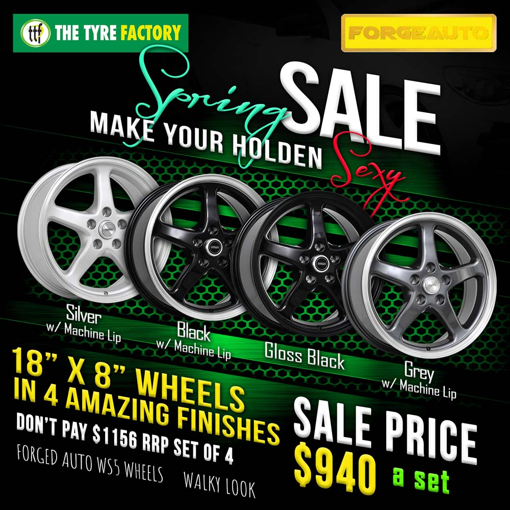 Spring Sale on selected Forgeauto wheels