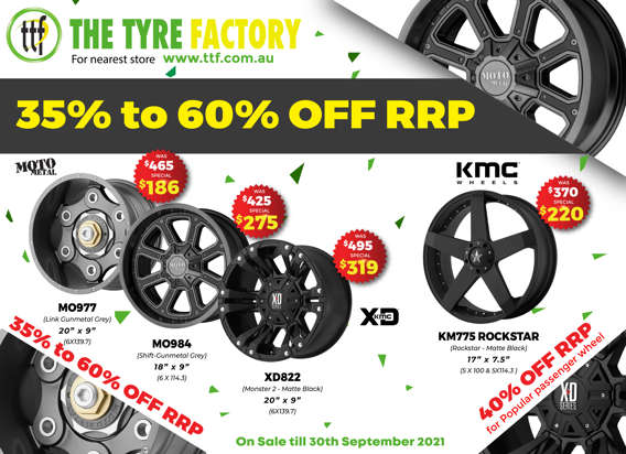 35 to 60% off RRP