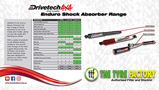 Enduro Shock Absorber Range