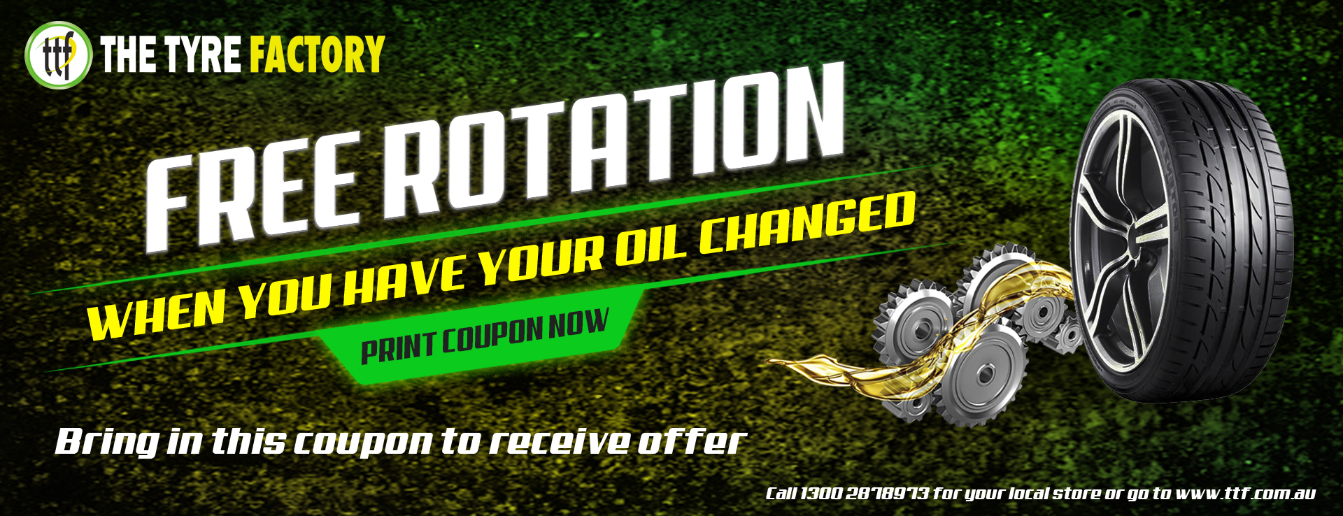 FREE ROTATION WHEN YOU HAVE YOUR OIL CHANGED