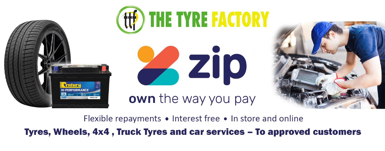 The Tyre Factory offers Zip Pay for all tyre and wheel purchases in our stores or Online.